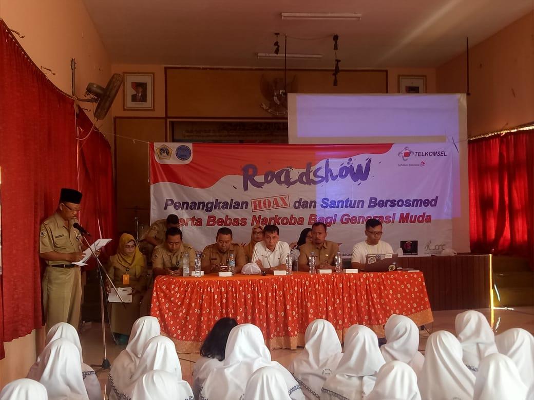 Ajak Generasi Muda Santun Bermedsos dan Bebas Narkoba, Diskominfo mengadakan Roadshow di Sekolah